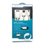 iWare MHL Cable Micro USB Male to HDMI Male White