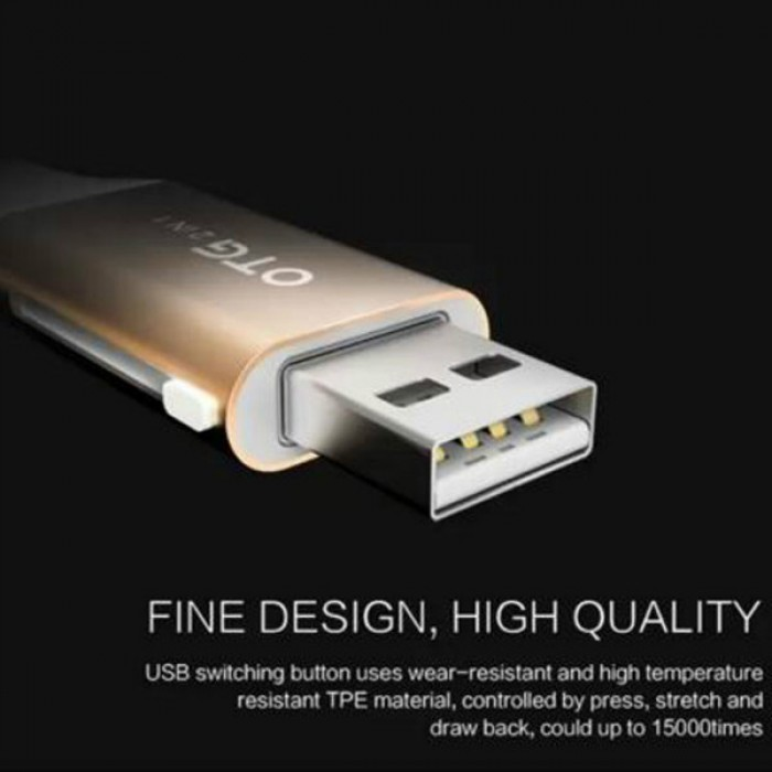 Jual WSKEN OTG Double Micro USB And Lightning Sync Charge