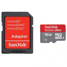 SanDisk Ultra MicroSD UHS-I Card with Adapter - 16 GB