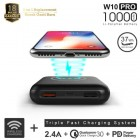ACMIC W10PRO Wireless Power Bank 10000 mAh QC 3.0 PD Power Delivery - Black + Garansi 18 bulan