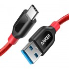 Anker PowerLine+ Cable Data USB-C to USB 3.0 (3ft/0.9m) Red