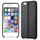 Imak Vega Leather Back Case iPhone 6 Plus / 6s Plus - Black (Free Tempered Glass)