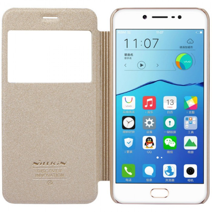 Jual Nillkin Sparkle Flip Case Cover Vivo V5 Gold