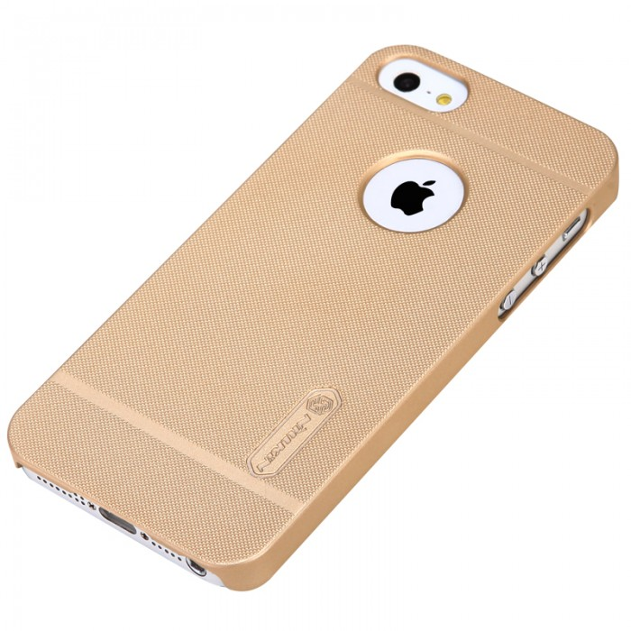 Jual Nillkin Frosted Hard Case iPhone SE / 5s / 5 Gold
