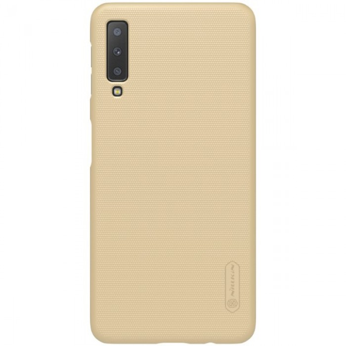 Jual Nillkin Frosted Hard Case Samsung Galaxy A7 (2018) Gold Indonesia Original Harga Murah