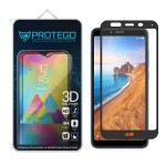 Protego 3D Xiaomi Redmi 7A Full Cover Tempered Glass Screen Protector - Black