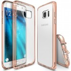 Rearth Samsung Galaxy S7 edge Case Ringke Fusion - Rose Gold