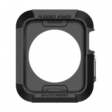 Jual Spigen Apple Watch 42mm Series 3 / 2 / 1 Case Rugged Armor Black Indonesia Original Harga Murah