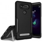 VRS Design LG V20 Case Carbon Fit with Kickstand- Phantom Black