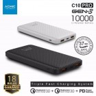 ACMIC C10PRO Power Bank 10000 mAh QC 3.0 PD Power Delivery - Black + Garansi 18 bulan