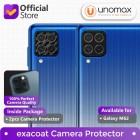 Camera Lens Protector Samsung Galaxy M62 Exacoat - Carbon Fiber Black (2pcs)