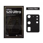 "Camera Protector Samsung Galaxy S20 Ultra (6.9"") Exacoat - Carbon Fiber Black"