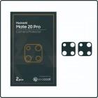 Exacoat Huawei Mate 20 Pro Camera Protector Matte Black (2pcs)