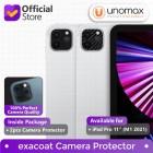 """Camera Lens Protector iPad Pro 11"""" M1 (2021) Exacoat - Carbon Fiber Black (2pcs)"""