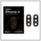 Exacoat iPhone X Camera Protector Matte Black (2pcs)