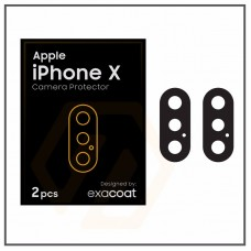 Jual Exacoat iPhone X Camera Protector Matte Black (2pcs) Indonesia Original Harga Murah