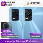 Camera Lens Protector Realme 8 5G Exacoat - Carbon Fiber Black