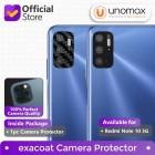 Camera Lens Protector Xiaomi Redmi Note 10 5G Exacoat - Carbon Fiber Black