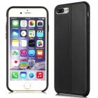 Imak Vega Leather Back Case iPhone 7 Plus - Black (Free Screen Protector)