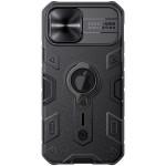 "Case iPhone 12 / 12 Pro (6.1"") Nillkin CamShield Armor (Logo Cut) Camera Cover Slide Casing - Black"