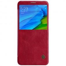 Jual Nillkin Qin Leather Flip Case Xiaomi Redmi Note 5 / Note 5 Pro Red Indonesia Original Harga Murah