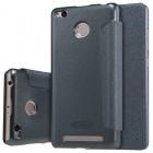 Nillkin Sparkle Flip Case Cover Xiaomi Redmi 3 Pro / 3s / 3s Prime Black