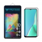 Tempered Glass Oppo A9 2020 Protego 3D Full Cover Screen Protector - Black