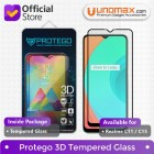Tempered Glass Realme C11 / C15 Protego 3D Full Cover Screen Protector - Black