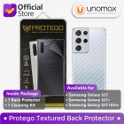 """Back Protector Samsung Galaxy S21 Ultra (6.8"""") Protego - Carbon Clear"""