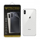 Back Protector iPhone XS Protego - Carbon Clear